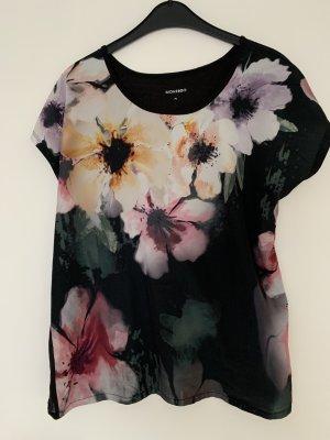 Tshirt gr xl schwarz mit Blumen vorne montego