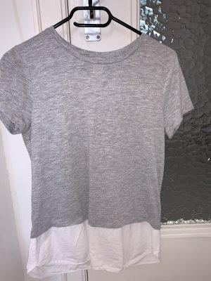 H&M T-shirt biały-szary