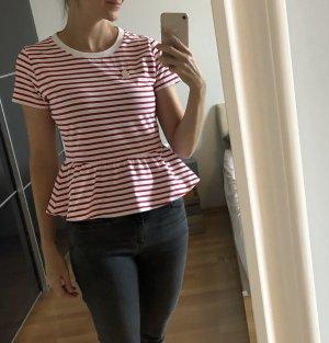 HUGO Hugo Boss T-shirt court blanc-rouge foncé
