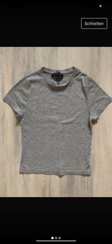 Tshirt in Grau kurz