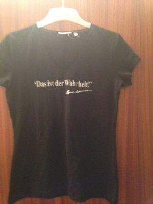 """TShirt in grösse M schwarz mit Aufschrift""""Das ist der Wahrheit"""" in Weiss"""