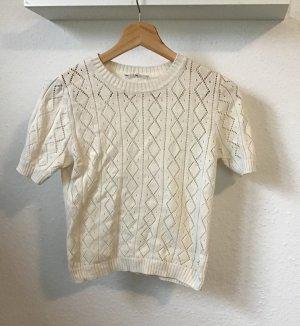 Monki Gehaakt shirt wolwit Katoen