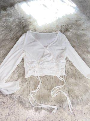 Tshirt in weiß mit Schnürung Neu gr. M/L