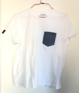 Tshirt, Jack&Jones, S/36,  Brusttasche in Jeansoptik