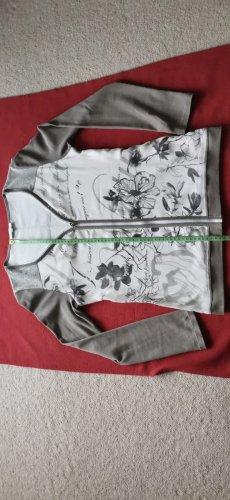Kallison Chaqueta estilo camisa gris claro-blanco