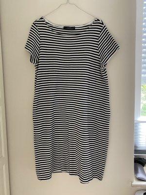 Tshirt Kleid gestreift Marine Taschen Lang
