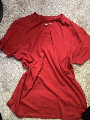 Koszulka oversize ciemnoczerwony-czerwony