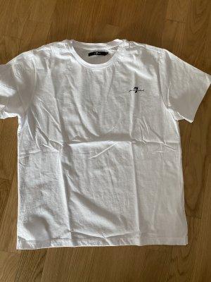 7 For All Mankind T-shirt biały-czarny Bawełna