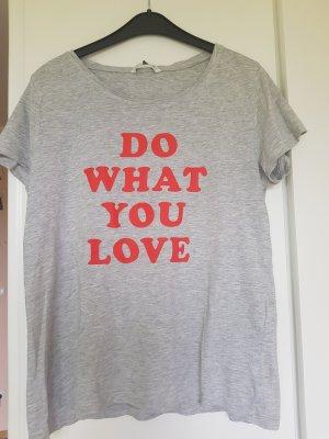 Only T-shirt szary-czerwony