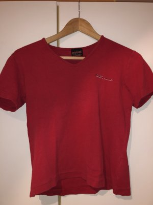 His T-shirt rosso scuro-rosso