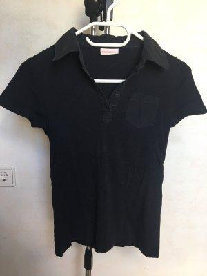 TShirt mit Blusenkragen/Jersey-Polo