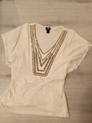 Tshirt mit goldenen Pailletten