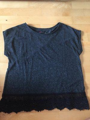 Even & Odd Camicia oversize nero-grigio scuro