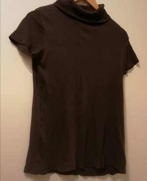 okay Camisa de cuello de tortuga marrón oscuro
