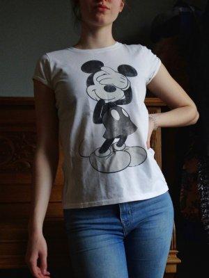 Tshirt mit Mickey Mouse Aufdruck in schwarz/ weiß
