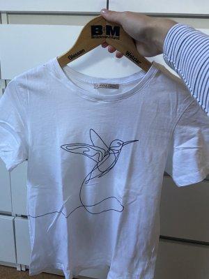 Anna Field T-shirt biały-czarny