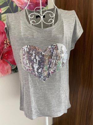 Tshirt mit Pailletten-Herz