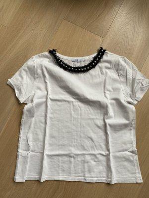 Tshirt mit Perlenkragen