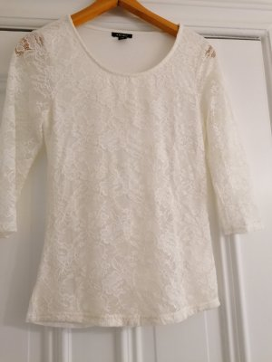 Amisu Blusa Camisa blanco puro-crema