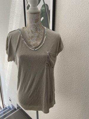 0039 Italy Camiseta crema-color plata
