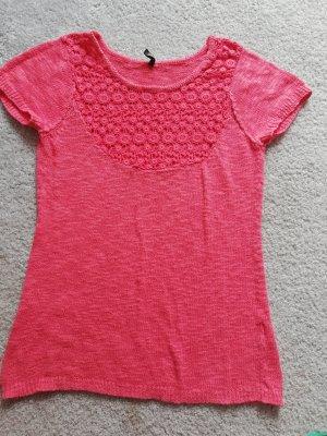 Naf naf Crochet Shirt salmon-bright red