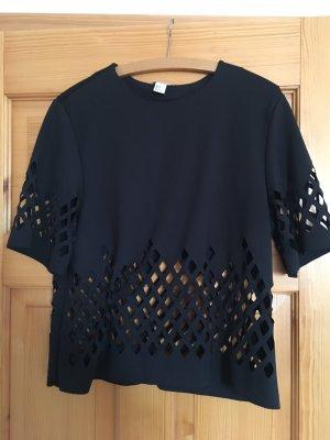 Tshirt Oberteil von H&M schwarz Größe 38 cutouts