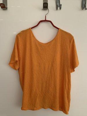 H&M T-shirts en mailles tricotées orange doré-orange clair