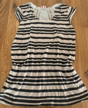 Pink loop Stripe Shirt cream-black