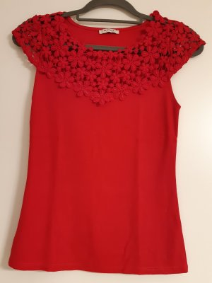 Tshirt rot Blumen, Größe XS, Orsay