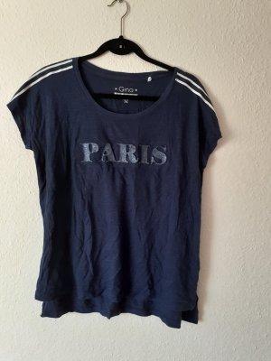 Tshirt Shirt von Gina Größe 38 dunkelblau