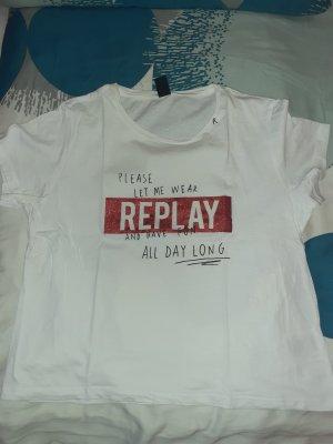 Replay Camiseta blanco-rojo
