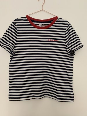 Tshirt Streifenshirt Kurzarmshirt & Other Stories mit Stickerei maritim