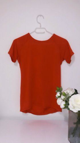 Tshirt top oberteil rot sport gym fitness yoga