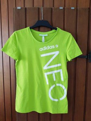 Adidas NEO T-shirt zielony neonowy