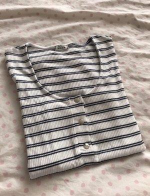 Pimkie Prążkowana koszulka biały-czarny