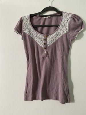 Review Ribbed Shirt white-mauve