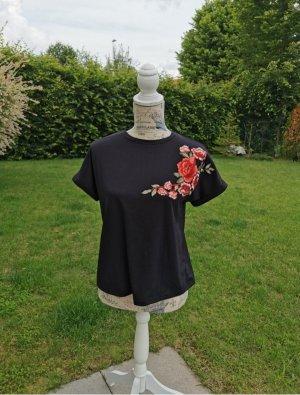Sheinside T-shirt nero-rosso