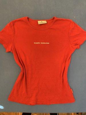 Tom Tailor T-shirt biały-czerwony