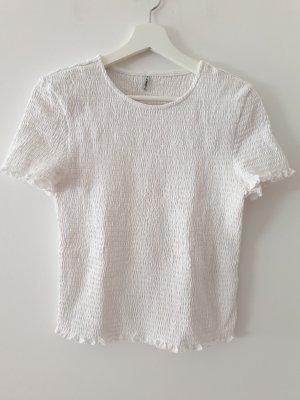Only T-shirt biały-w kolorze białej wełny Bawełna
