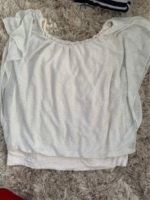 Glanzende blouse wit