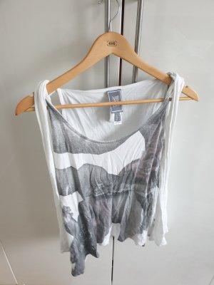 tshirt weiß grau mango S