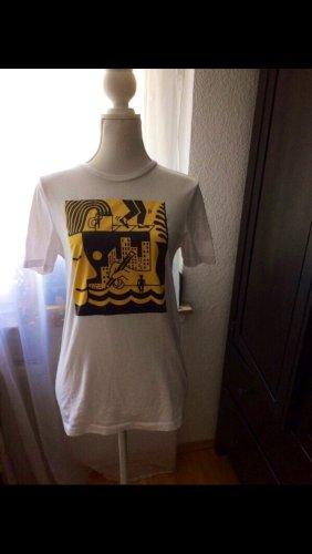 Tshirt weiß mit Print Asos XS/S gelb
