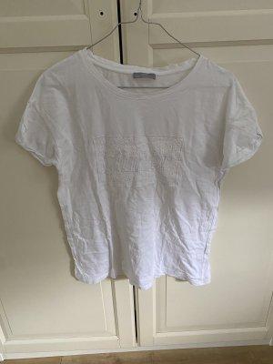 Tshirt Zara Basic Print Stickerei