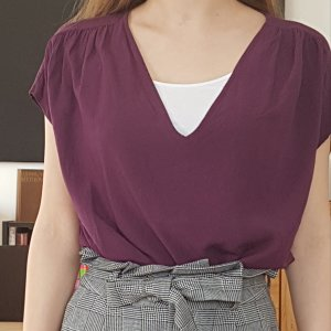 Broadway Mouwloze blouse braambesrood-bruin-paars Viscose