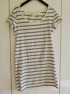 H&M Basic Sukienka o kroju koszulki czarny-w kolorze białej wełny