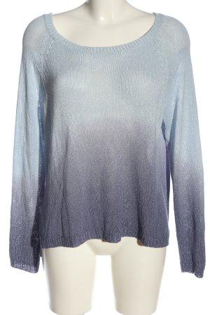 TU Feinstrickpullover blau-lila Farbverlauf Casual-Look