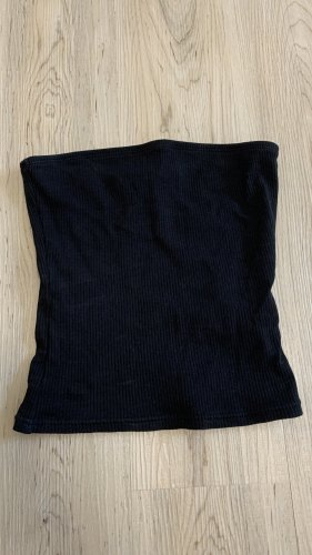 H&M Top z dekoltem typu bandeau czarny