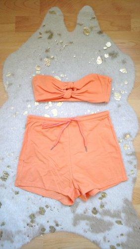 SheIn Ensemble en jersey orange clair-abricot