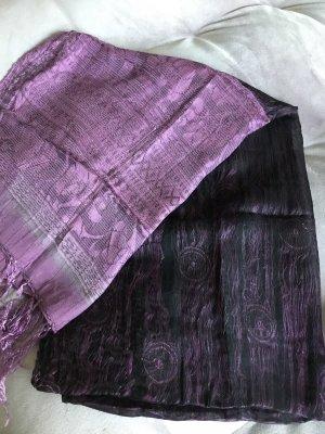 Hijab black-lilac
