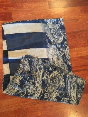 Made in Italy Scialle marrone-grigio-blu Viscosa